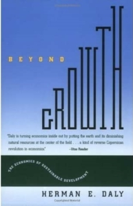 Cover of Herman Daly's book, Beyond Growth, the second reading recommendation on CASSE's reading list.