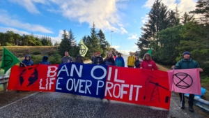 Extinction Rebellion protesters blocked access to Norway's oil and energy ministry for over five hours on August 23rd, part of a ten-day protest against the oil industry.