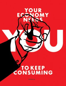 """Keep Consuming"" Poster by Adbusters"