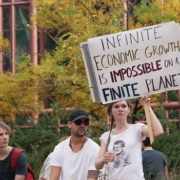 Protesting finite growth