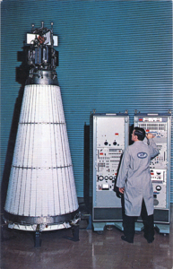 Image of the nuclear power plant launched into space as part of the SNAPSHOT program.