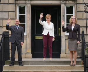 Nicola Sturgeon selects ministers Patrick Harvie and Lorna Slater, the first time members of the Scottish Greens have ever been appointed to government positions.
