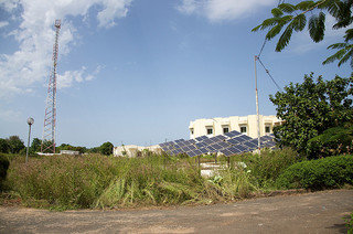 Solar array at a Gambian hospital