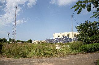 Solar array at a Gambian hospital