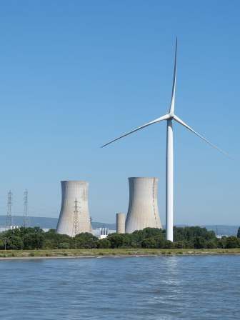 renewable energy and nuclear power plant