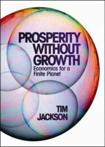 The cover of Prosperity Without Growth by Tim Jackson.