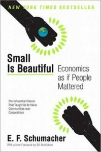 Cover art for Small is Beautiful book by EF Schumacher